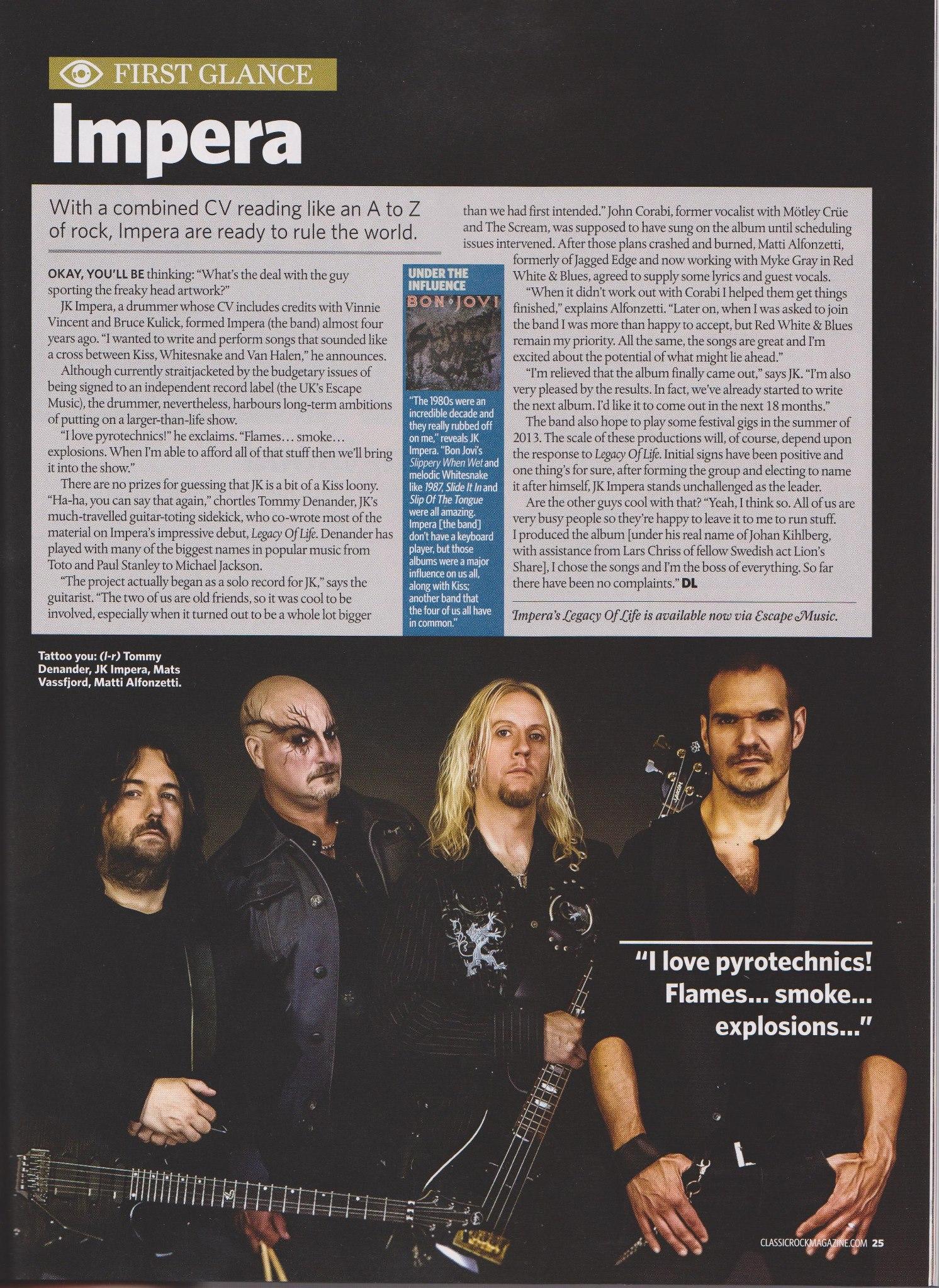 Classic Rock:s AOR magazine.